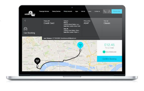 Addison Lee launches new booking website