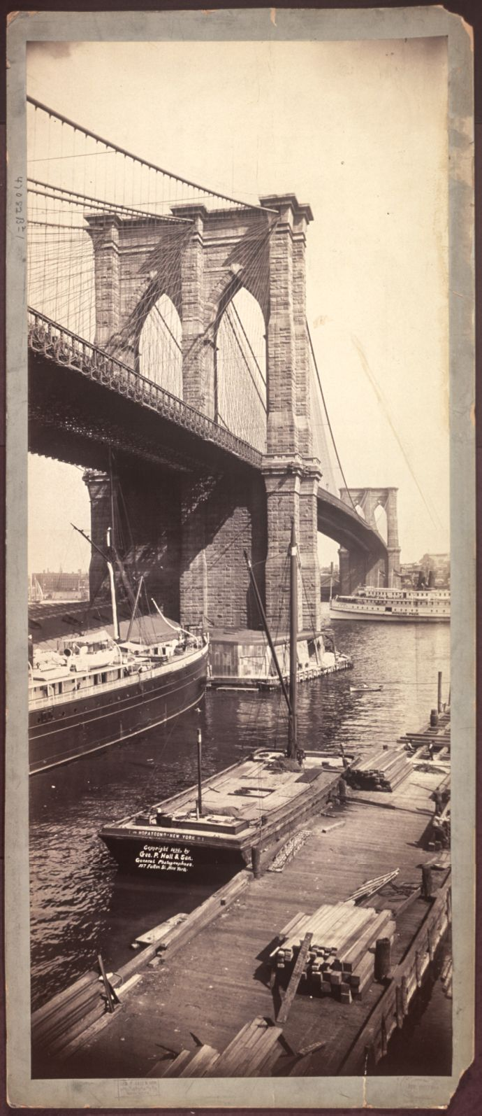 New York. The Brooklyn Bridge, 1896.