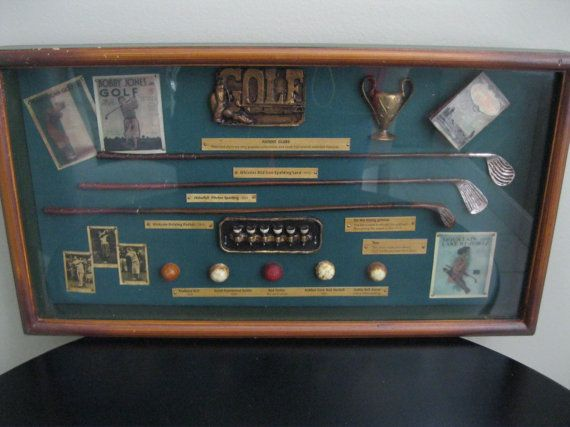 Vintage Golf Shadow box Wood picture frame by ...