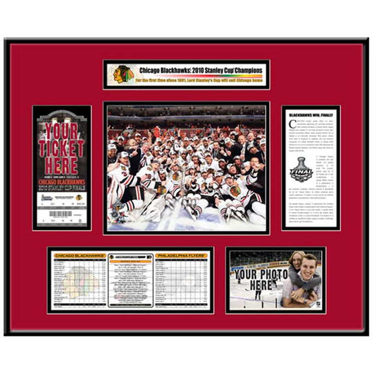 Chicago Blackhawks 2010 NHL Stanley Cup Champions That's My Ticket Frame
