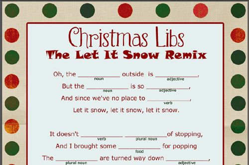 Free Christmas Mad Libs Printable @ christmas.yourway.net
