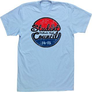 Student Council T-shirts High School Custom Tees Beach TShirt Script High School T-shirts