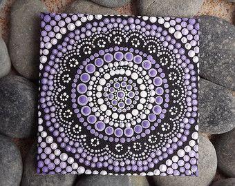 Purple Aboriginal Dot Art Painting by Biripi by RaechelSaunders