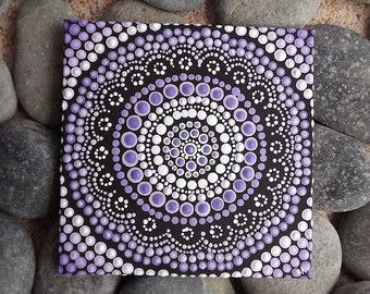 Purple Aboriginal Dot Art Painting by Biripi by RaechelSaunders