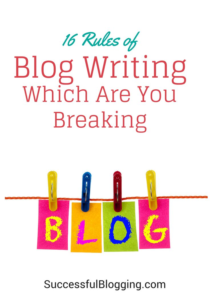 Which rules of blog writing and layout are you breaking with your blog?