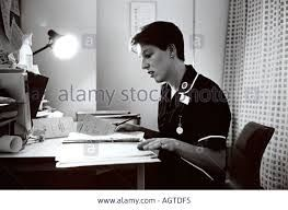 case notes image - it is the image that comes into my head when I hear the term case notes, it reminds me of the nurse filling out the case files.  I can recall a time I was in hospital and could not sleep so the nurse sat with me whilst she wrote her notes.