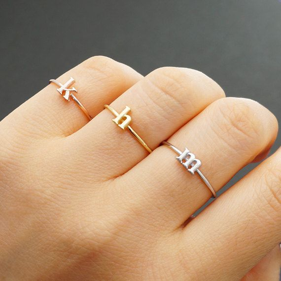 Best 25 Initial rings ideas on Pinterest