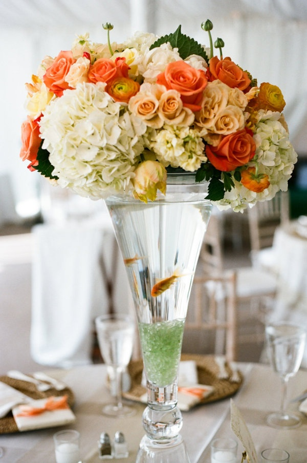 Best 25 fish centerpiece ideas on pinterest beta fish for Fish wedding centerpieces