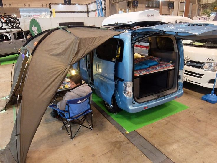 A camper based on the Nissan e-N200 electric van – powering any outdoor electrical device is not a problem