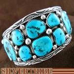 Navajo Indian Jewelry Sleeping Beauty Turquoise and Sterling Silver Bracelet