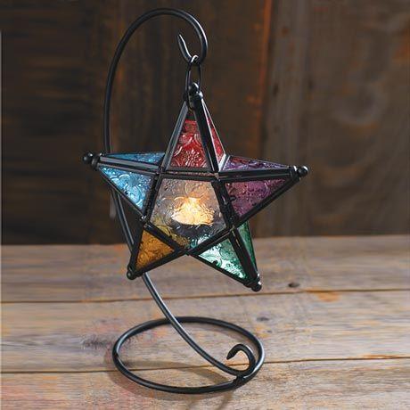 Estrella lámpara vitral
