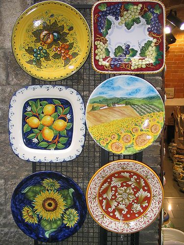 "Adding pieces to your decor is simple, you can find many things at yard sales and resale shops.  Develop your Tuscan ""eye""."
