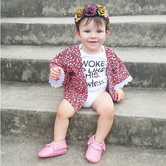 OMG! This little lady has nailed weekend style   Regram via the adorable @armanipapamanolis wearing JY leather booties from OZSALE. Click the link in our bio to shop a huge range of leather kids booties for only $19 from JY today  #mystylefind