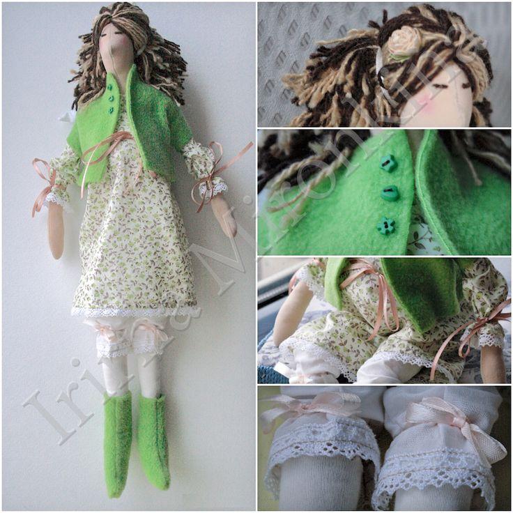 Изделие: Кукла Тильда Материал: трикотаж хлопок, кружево винтажное, флис, хлопок