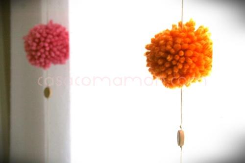 DIY - pompons para a cortina