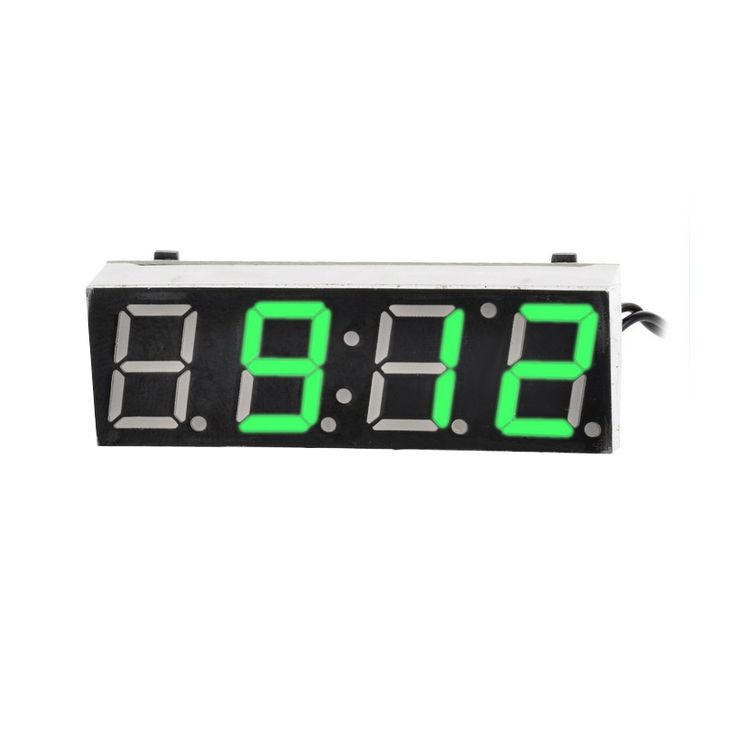 Car Electric Clock Vehicle Digital Timer Luminous LED Clock Temperature Thermometer Voltmeter LED Display Digital Clock #jewelry, #women, #men, #hats, #watches