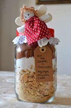 Regali in cucina salame di cioccolato in barattolo