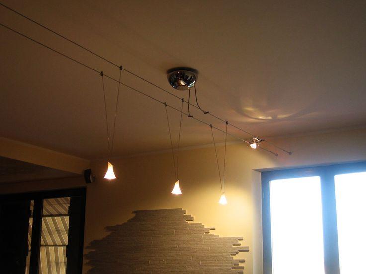 Ristrutturazione appartamento Fontane (TV) Particolare luci a carrello.