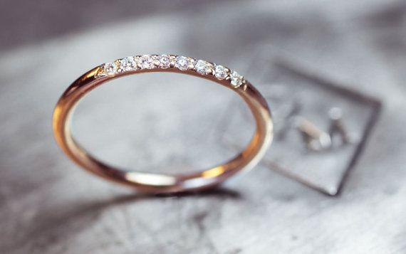 Diamond Ring Wedding Band 8 Pave Set Diamond von C…
