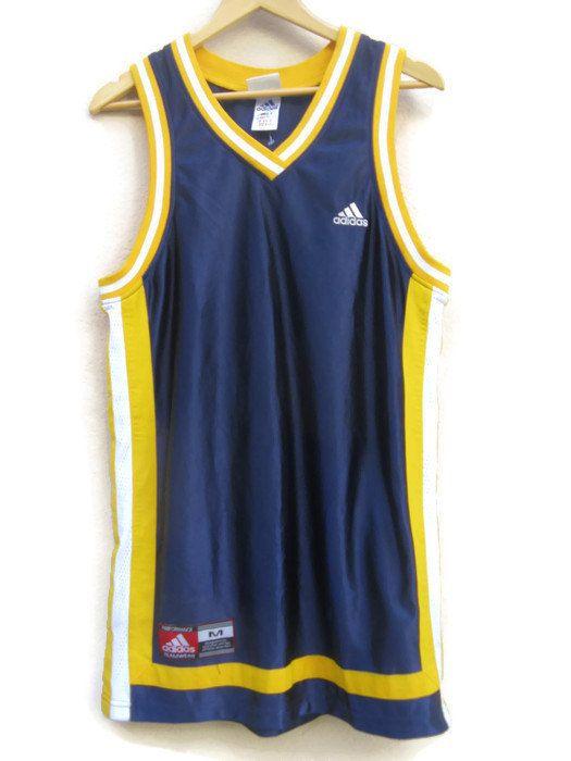 90s Adidas TANK TOP Retro Athletic Rap streetwear teamwear Basketball vest top…