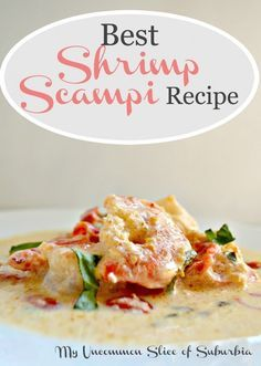A delicious blend of lemon, basil, garlic, wine with a little heavy cream makes for the perfect shrimp scampi.