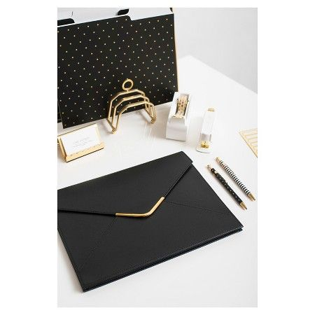 Sugar Paper® File Folder Set, 12ct - Black with Gold Accents : Target