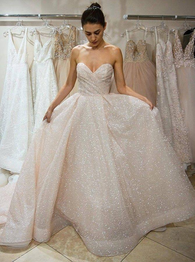 A Line Sweetheart Sleeveless Sweep Train Lace Wedding Dress Sequindress