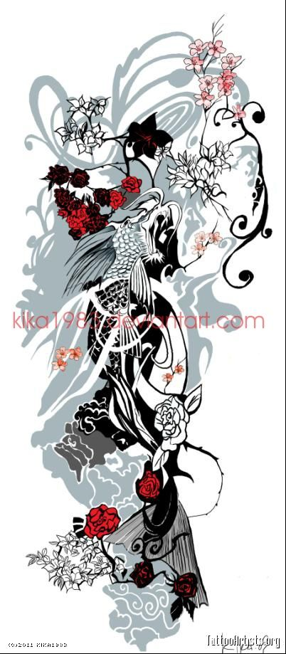 Koi dragon: commission
