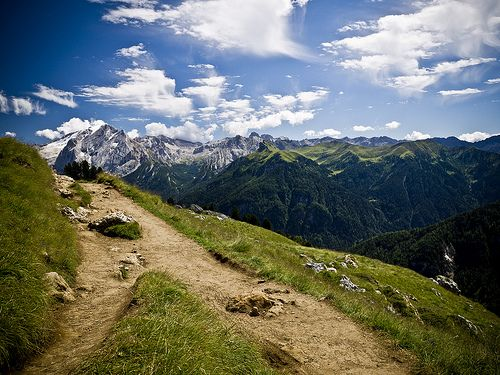 Montain Landscape - the right path - Marmolada - Dolomiti #Italy #dolomiti