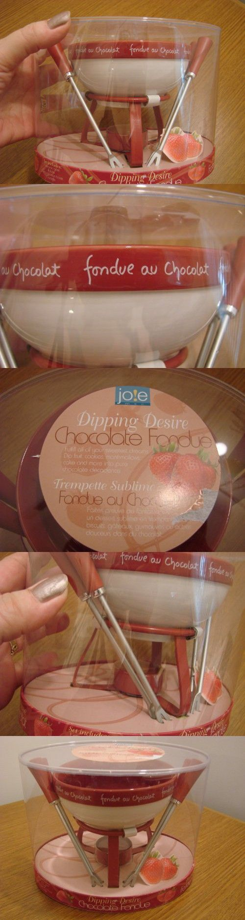 Joie Dipping Desire Chocolate Fondue Set w/4 Forks New in Box