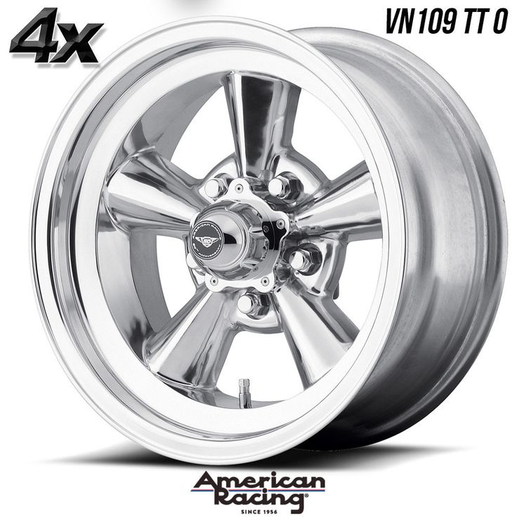 "4 American Racing 109 TT O 15""x5"" 5x114.30 Polished OFST:-6mm 15 Inch Rims 15X5 Wheels"