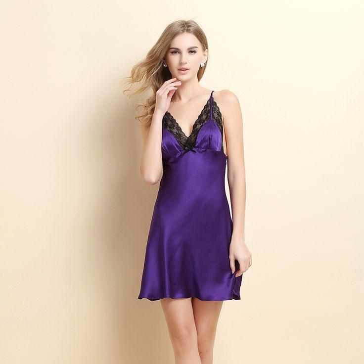 2015 Flying brave new summer silk pajamas silk Dress female sexy temptation sling Lingerie tracksuit USD$60.20
