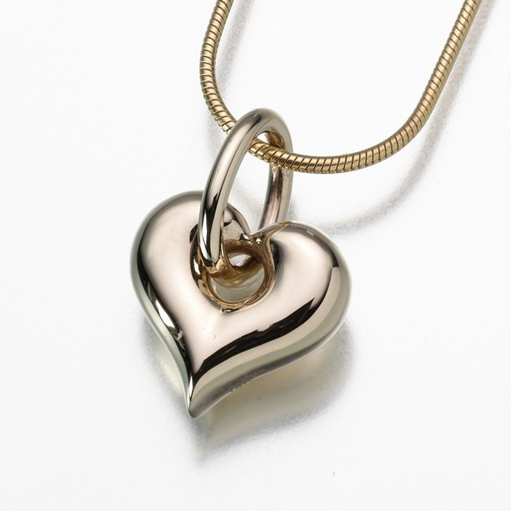 46 best heart shaped urns jewelry images on pinterest heart gold puff heart urn necklace this urn necklace is dipped in gold and styled as a puffy hear to create is the ultimate symbol of love aloadofball Image collections