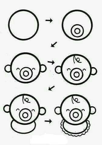 Aprende A Dibujar Un Bebé Fácil Y Sencillo Draw En 2019 Easy