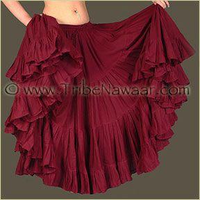Tribe Nawaar Ruby Red Wine 25 Yard Cupcake Skirt Tribal Bellydance Skirt Gypsy Skirt Flamenco Skirt Burgundy ATS Skirt ITS Skirt Renaissance Skirt Tiered Skirt Fluffy Skirt Premium Quality 25yd Skirt