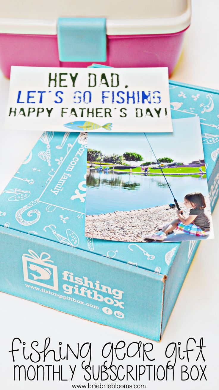 Give a monthly fishing gear subscription for a truly unique gift they'll love this Father's Day! Pair it with my free fishing Father's Day card printable! #ad