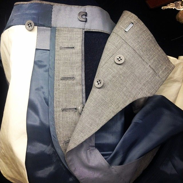 Button Fly, attempts at hand sewing button holes #timothyeverest #handmade #bespoke #tailor #mensfashion #craft