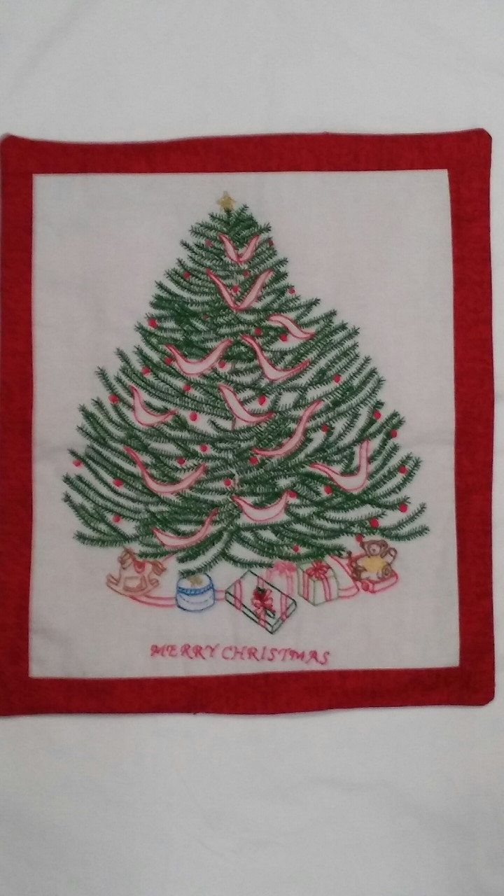 13 best embroidery images on pinterest tablecloths hand christmas tree hand embroidery pattern rock garden creations beautiful christmas tree embroidery by materialgirlsquilt bankloansurffo Choice Image