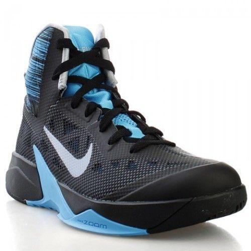 reputable site 70e0b b5a21 Jordan 2 Retro Low Nike Zoom Hyperfuse 2013 Mens Size Basketball Shoes Black  Blue Grey 615896 007 ...