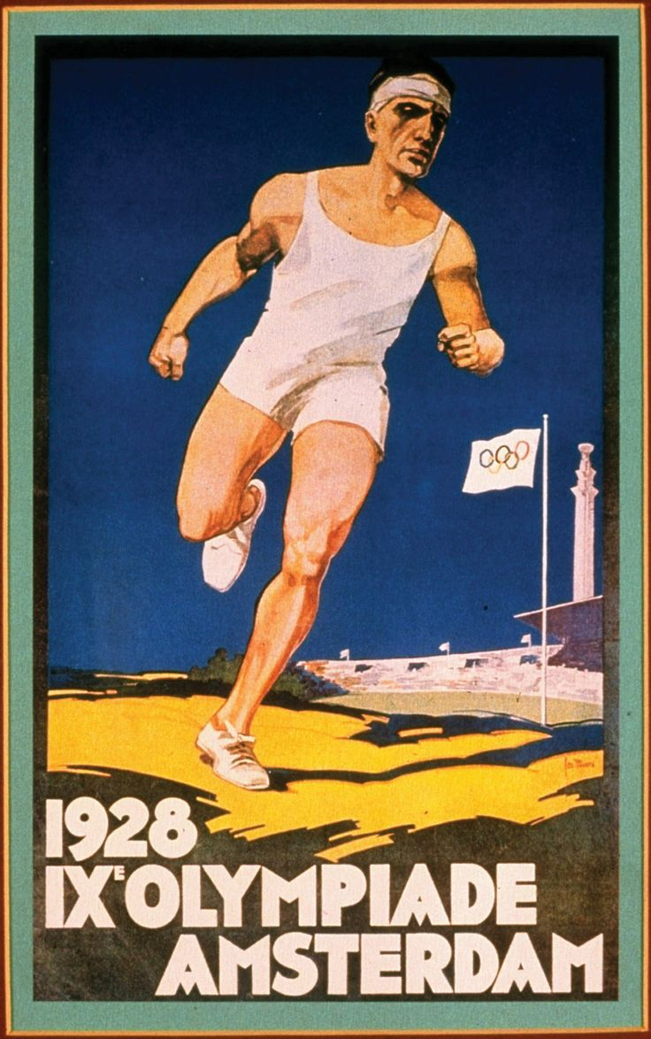 Poster of the 1928 Olympic Games - Amsterdam, Netherlands