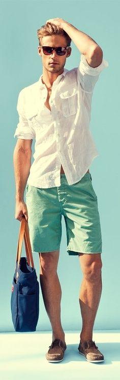 summer LOVE turquoise shorts beach summer casual