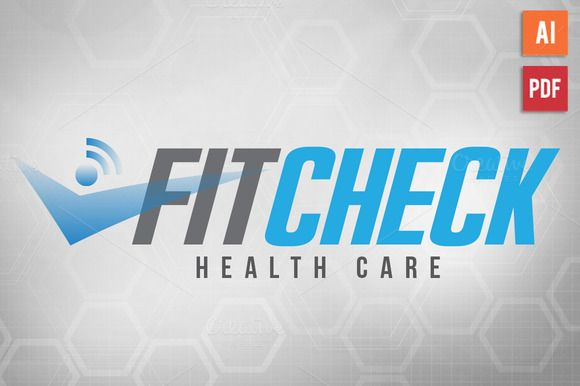 Health Fitness Logo Template by Lucion Creative on Creative Market