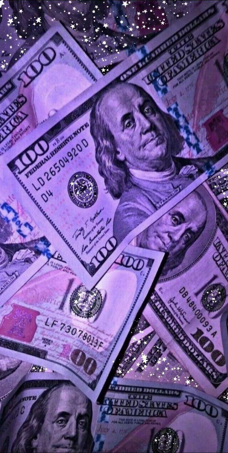 Uang estetika berkilau neon ungu wallpaper pada tahun 2020 ...