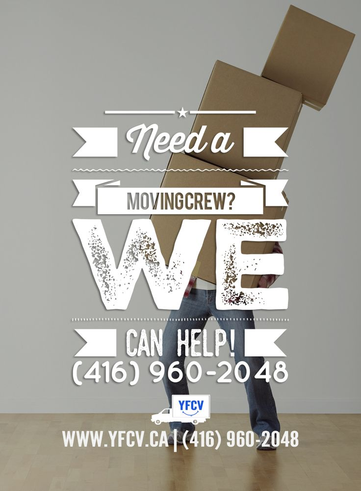Need a #MovingCrew? Call Your Friend with a Cube Van 416-960-2048 #YFCV #Toronto #Movers www.yfcv.ca #Moving #Packing 381 Dundas St E, Toronto, ON M5A 2A6