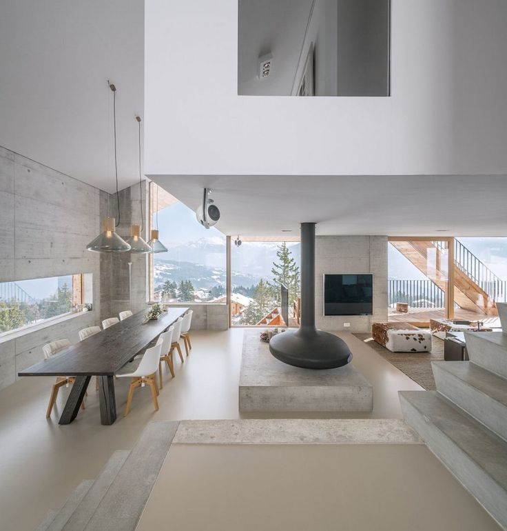 Une décoration de chalet moderne et minimaliste