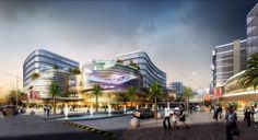 UA Studio 7 and Aedas' Central Business District for Hongqiao Airport Now Underway
