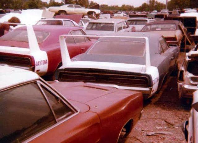 Daytonas in a wrecking yard