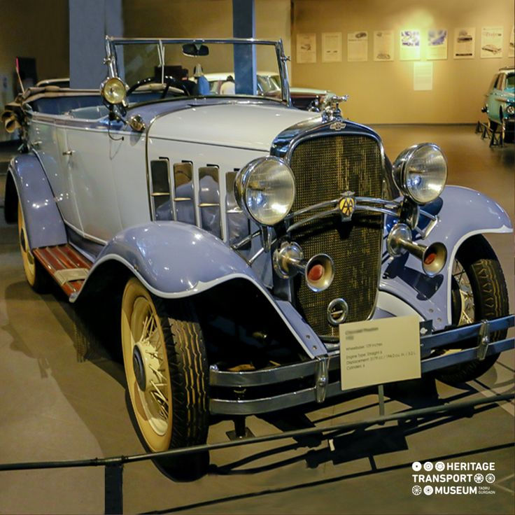 A 1932 Chevrolet Phaeton is a four-door 5 seater open Tourer convertible car. This is the oldest amongst the cars displayed at the museum!  #chevrolet #vintagevehicle #vintagetransport #vintagecars #vintagecollection #transportmuseum #incredibleindia
