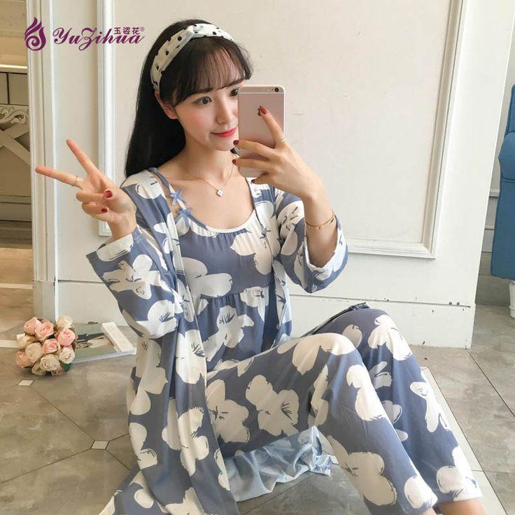 Yuzihua 3 Pic Pyjamas Women Pajamas Sexy Pijama Set Pijamas Mujer Pijama Feminino Sleepwear Pyjama Femme Pajama Pijama Vest #Affiliate