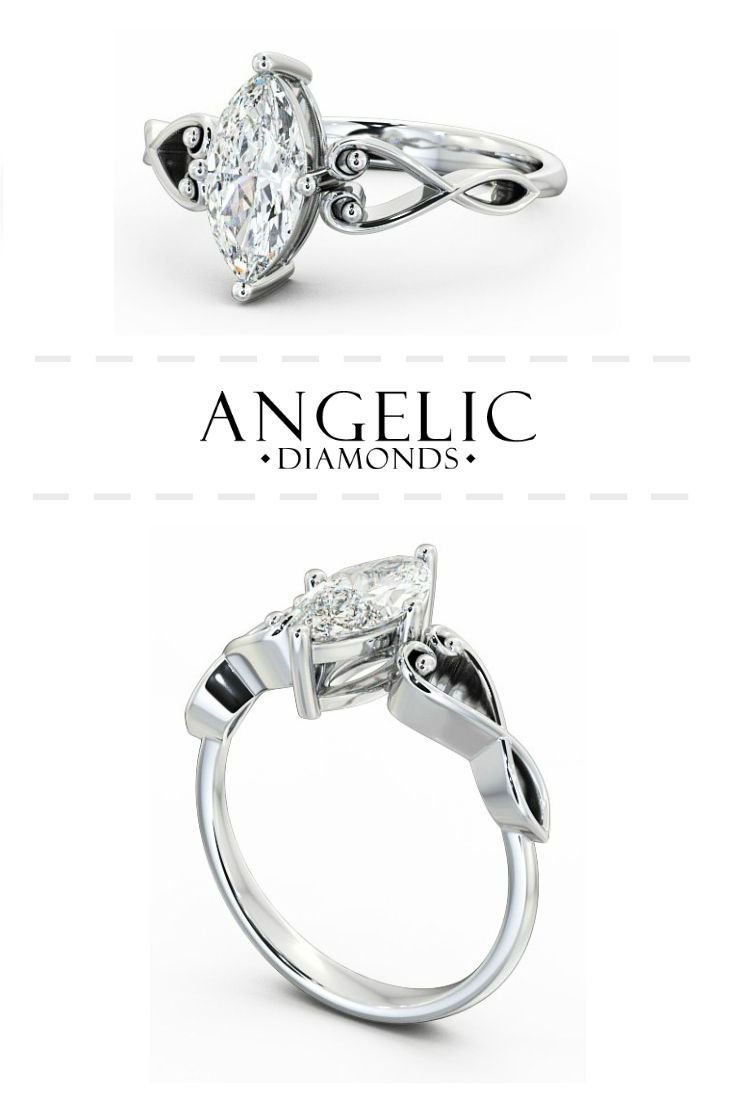 Stand out from the crowd with this beautiful oval diamond engagement ring with beautiful heart details. Available from #AngelicDiamonds. #Wedding #Engaged #Engagement #EngagementRing #Ring #Jewellery #Jewelry #WhiteGold #Diamond #Diamonds #DiamondRing #WhiteGoldRing